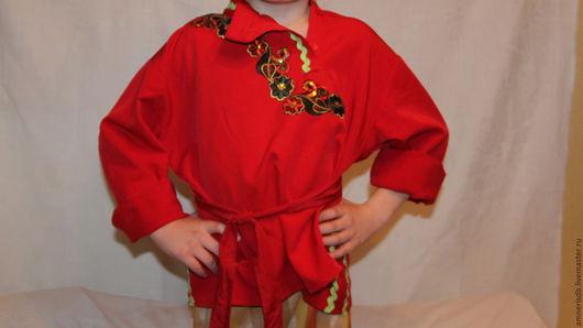 Одежда для мальчиков, ручной работы. Ярмарка Мастеров - ручная работа. Купить Рубашка красная, детский театральный костюм. Handmade.