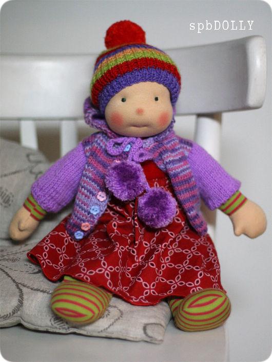 Человечки ручной работы. Ярмарка Мастеров - ручная работа. Купить Амика - кукла текстильная игровая для девочки. Handmade. Комбинированный, куклы