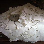 """Винтаж ручной работы. Ярмарка Мастеров - ручная работа Винтажные салфетки """" Цветочная вышивка """". Handmade."""