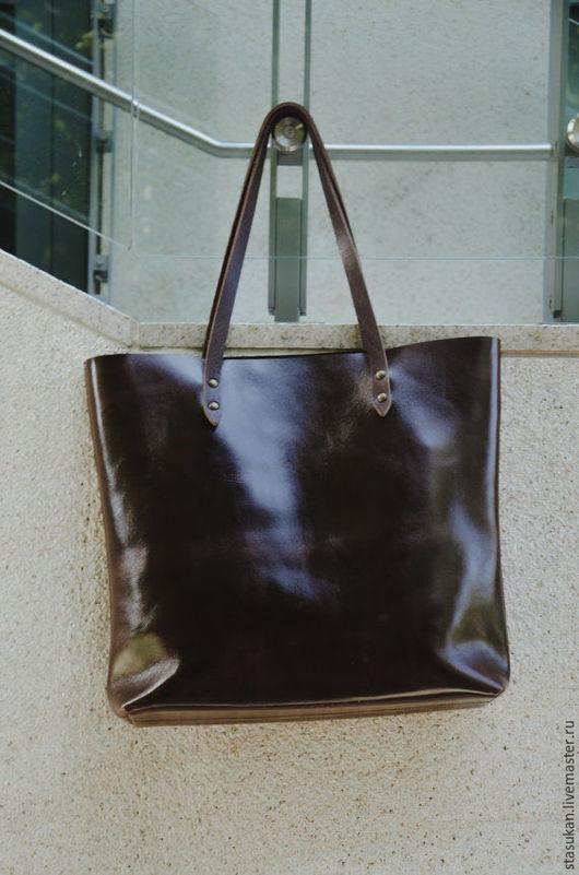 Женские сумки ручной работы. Ярмарка Мастеров - ручная работа. Купить Сумка натуральная кожа шоколадного цвета. Handmade.