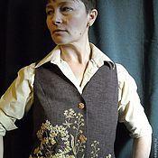 """Одежда ручной работы. Ярмарка Мастеров - ручная работа жилет """" Август"""". Handmade."""
