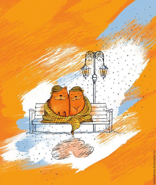 """Текстиль, ковры ручной работы. Ярмарка Мастеров - ручная работа. Купить СКИДКА 35% Плед """"Зимняя романтика"""". Handmade. Плед"""