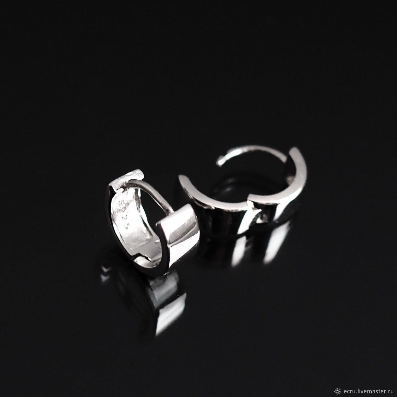 Серебро 925 пр. Серьги колечки, Фурнитура, Москва,  Фото №1