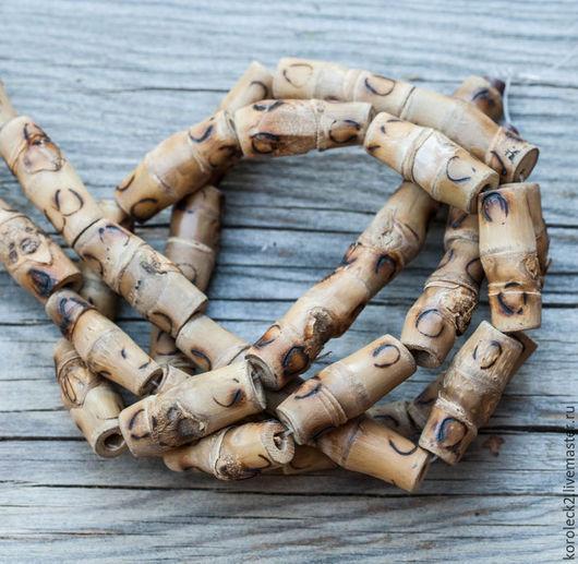 Для украшений ручной работы. Ярмарка Мастеров - ручная работа. Купить Бусины-трубочки из бамбука, 25 мм. Handmade.