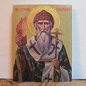 Картины и панно handmade. Livemaster - original item Saint Spyridon icon handwritten. Handmade.