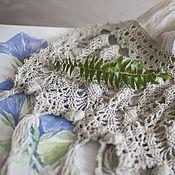 Аксессуары ручной работы. Ярмарка Мастеров - ручная работа Бохо палантин шарф льняной. Handmade.