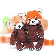 Куклы и игрушки ручной работы. Ярмарка Мастеров - ручная работа малая панда красная валяная игрушка. Handmade.