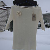 Одежда ручной работы. Ярмарка Мастеров - ручная работа Джемпер японский мохер на шелке. Handmade.