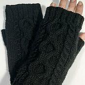 Аксессуары handmade. Livemaster - original item Isabel`s mitts, black. Handmade.