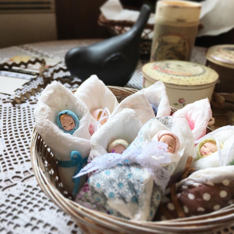 Ватные игрушки  ,Пеленашки, игрушки на ёлку, Подарки для новорожденных, Красногорск,  Фото №1
