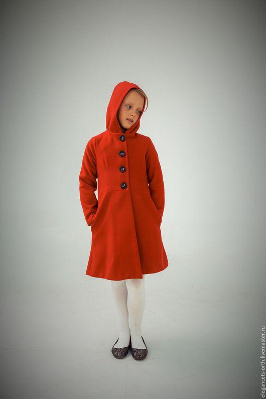 """Одежда для девочек, ручной работы. Ярмарка Мастеров - ручная работа. Купить Пальто """"Злая Красная шапочка"""". Handmade. Ярко-красный"""