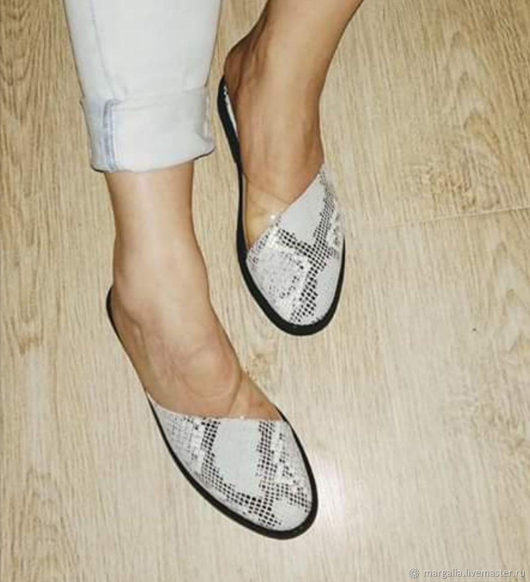 Обувь ручной работы. Ярмарка Мастеров - ручная работа. Купить Мюли. Handmade. Обувь ручной работы, Обувь из кожи