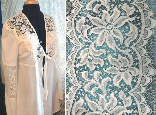 """Халаты ручной работы. Ярмарка Мастеров - ручная работа. Купить Пеньюар """"Винтаж"""" №1. Handmade. Белый, винтажный стиль, хлопок"""