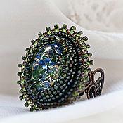 Украшения handmade. Livemaster - original item cocktail ring with gift water nymph (blue, green, vintage). Handmade.
