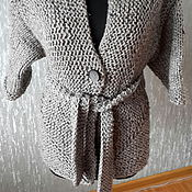 Одежда ручной работы. Ярмарка Мастеров - ручная работа теплый кардиган. Handmade.