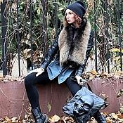 Сумки и аксессуары handmade. Livemaster - original item Black bag genuine leather