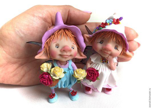 Коллекционные куклы ручной работы. Ярмарка Мастеров - ручная работа. Купить Ганс и Миа. Handmade. Комбинированный, лесная фея