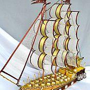 Подарки к праздникам ручной работы. Ярмарка Мастеров - ручная работа Корабль из конфет.. Handmade.