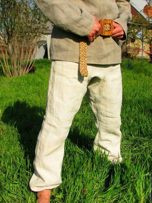 Брюки, шорты ручной работы. Ярмарка Мастеров - ручная работа. Купить Порты из домотканой конопли. Handmade. Русский стиль, брюки
