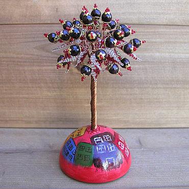 Цветы и флористика ручной работы. Ярмарка Мастеров - ручная работа Дерево из граната «Гранатовый город» на сфере. Handmade.
