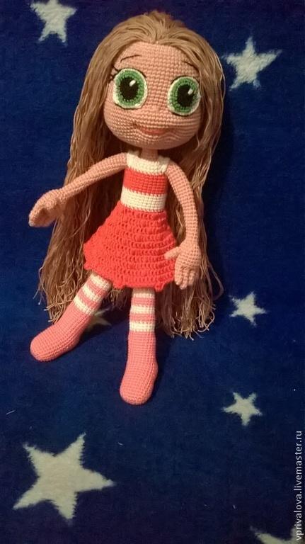 Человечки ручной работы. Ярмарка Мастеров - ручная работа. Купить куколки. Handmade. Фуксия, кукла ручной работы, кукла, халофайбер
