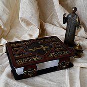 Канцелярские товары ручной работы. Ярмарка Мастеров - ручная работа кожаная обложка для библии. Handmade.