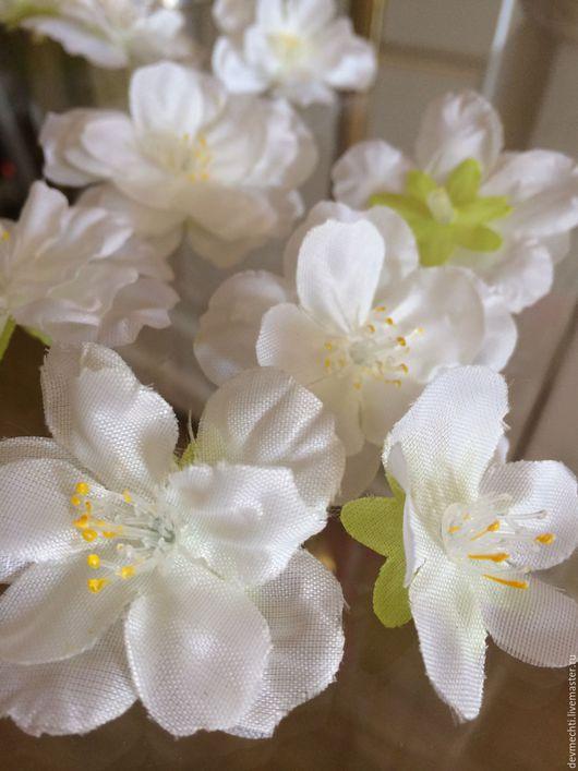 Другие виды рукоделия ручной работы. Ярмарка Мастеров - ручная работа. Купить Цветы вишни. Handmade. Цветы из ткани