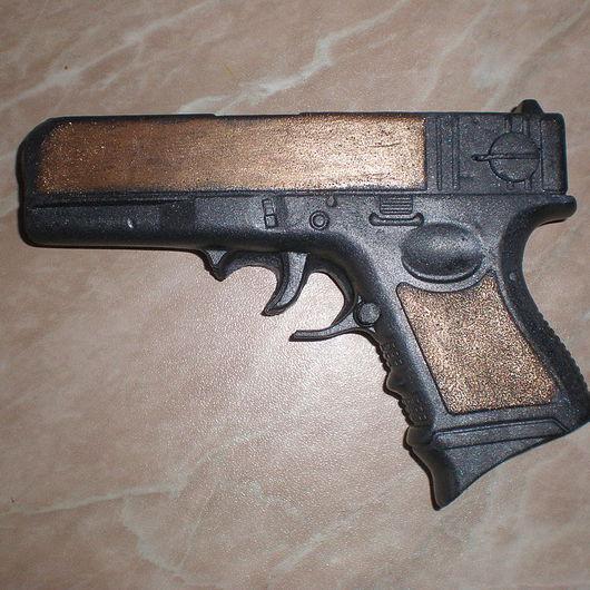 """Мыло ручной работы. Ярмарка Мастеров - ручная работа. Купить Мыло """"Пистолет"""". Handmade. Пистолет, мыло для мужчин, оригинальный подарок"""