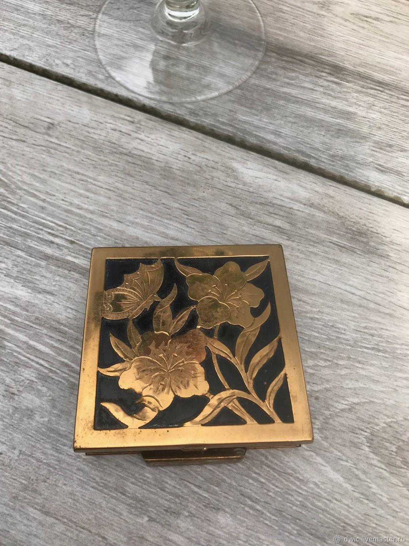 пудреница золотые цветы арт деко франция Shop Online On