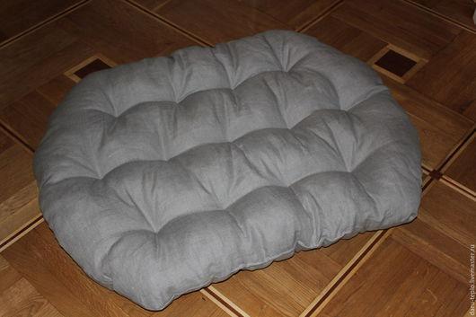 Текстиль, ковры ручной работы. Ярмарка Мастеров - ручная работа. Купить Подушка, матрасик для кресла, дивана. Handmade. Серый, холлофайбер