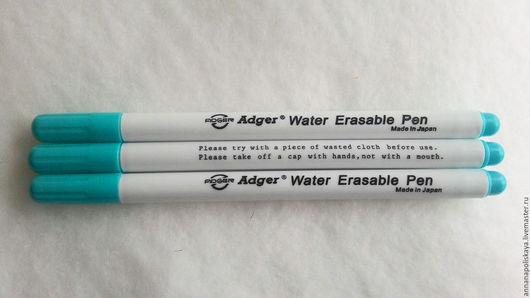 Шитье ручной работы. Ярмарка Мастеров - ручная работа. Купить Голубой маркер по ткани. Handmade. Голубой, маркер, смывается водой