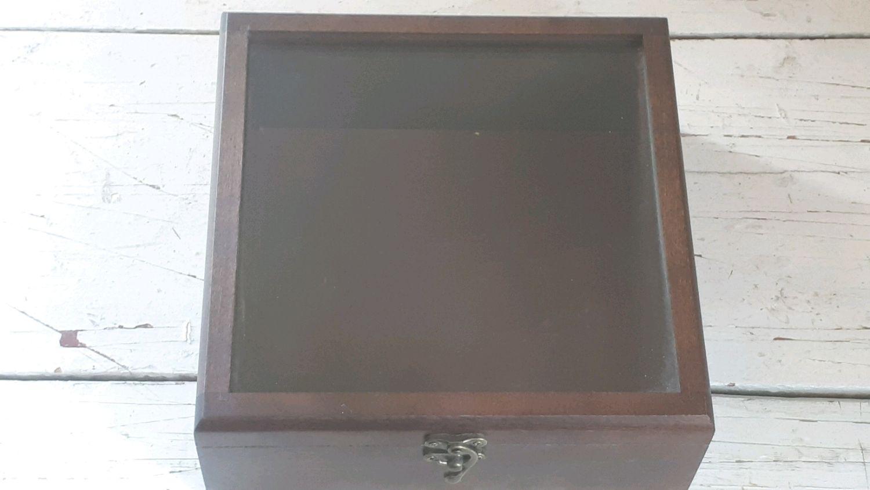 Шкатулка 20 20 8 см. со стеклом для подарка под упаковку с отделкой, Подарочные боксы, Москва,  Фото №1