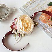 Свадебный салон ручной работы. Ярмарка Мастеров - ручная работа Браслет для подружек невесты . ( Пион светлый). Handmade.