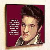 Картины и панно handmade. Livemaster - original item Picture of Elvis Presley in the style of Pop Art. Handmade.