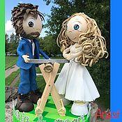 Куклы и пупсы ручной работы. Ярмарка Мастеров - ручная работа Свадебные куклы жених и невеста из фоамирана. Handmade.