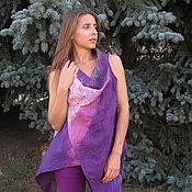 Одежда handmade. Livemaster - original item Vest - transformer felted shawl, felted vest. Handmade.