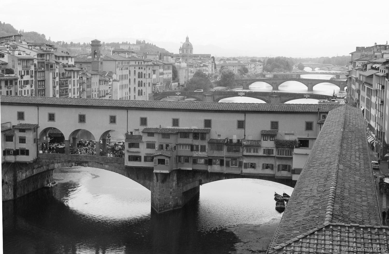 Lu. `Мосты... мосты...` Авторская фотокартина, Флоренция, 2012 г.