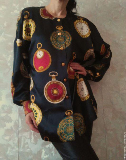Одежда. Ярмарка Мастеров - ручная работа. Купить Escada блузка шелковая. Handmade. Черный, офисный стиль, блузка нарядная