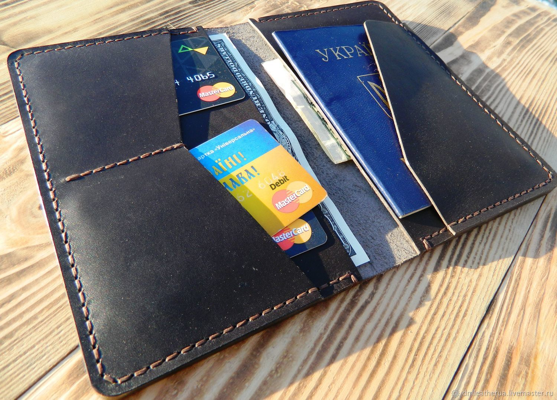 Портмоне для паспорта и автодокументов своими руками