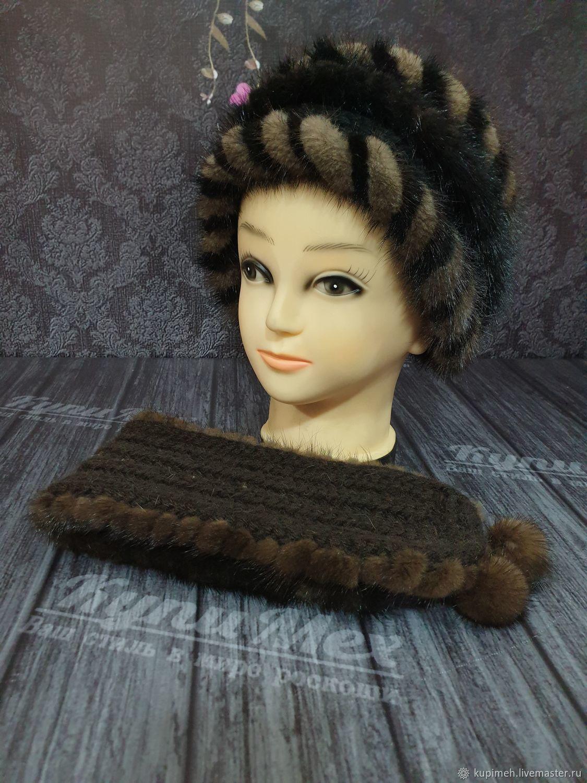 Fur headband made of mink, Bandage, Nalchik,  Фото №1