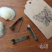 Материалы для творчества ручной работы. Ярмарка Мастеров - ручная работа Булавка для брошей 25 мм, металл, цвет бронза антик. Handmade.