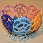 """Посуда ручной работы. Ярмарка Мастеров - ручная работа """"Цветик-восьмицветик"""" вазон. Handmade."""