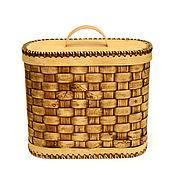 handmade. Livemaster - original item The box is woven from birch bark. Box for storage. Handmade.