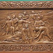 """Картины ручной работы. Ярмарка Мастеров - ручная работа Панно """"Иисус и крест"""". Handmade."""