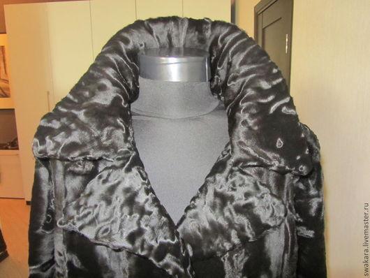 Верхняя одежда ручной работы. Ярмарка Мастеров - ручная работа. Купить Черный муар SWAKARA. Handmade. Черный, пальто