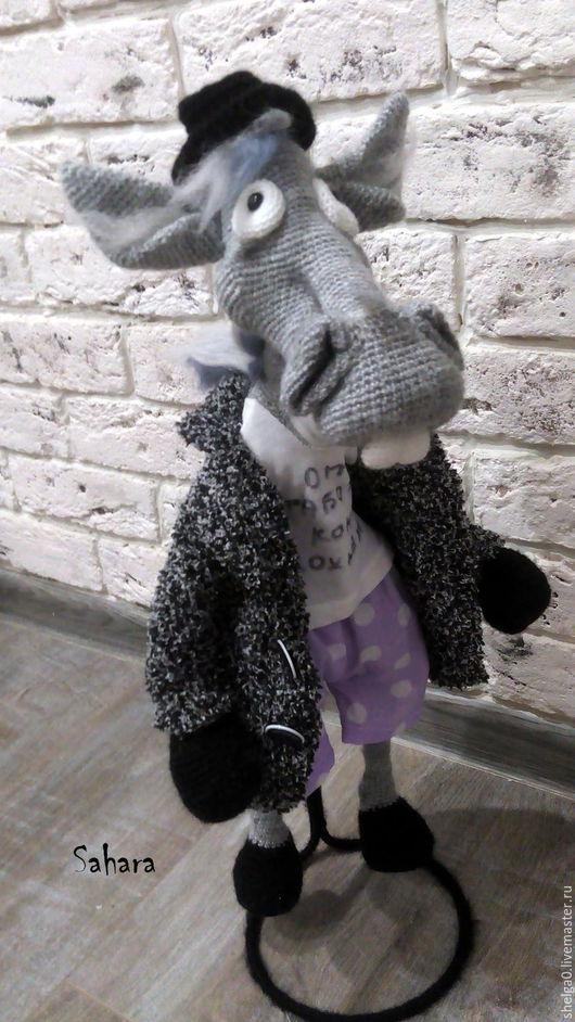 Игрушки животные, ручной работы. Ярмарка Мастеров - ручная работа. Купить Конь в пальто (от работы кони дохнут). Handmade.