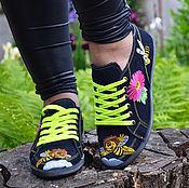 Обувь ручной работы. Ярмарка Мастеров - ручная работа женские кеды. Handmade.