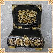 "Русский стиль handmade. Livemaster - original item Casket ""Golden Khokhloma"". Handmade."