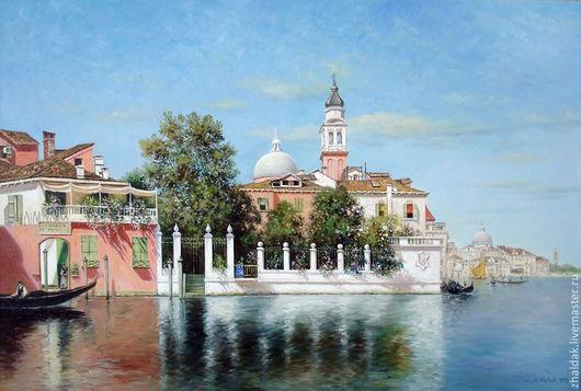 """Пейзаж ручной работы. Ярмарка Мастеров - ручная работа. Купить Картина ''Венецианский пейзаж"""". Handmade. Венеция, картина для интерьера"""