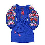 "Dresses handmade. Livemaster - original item Платье-вышиванка ""Петриковские краски"". Handmade."